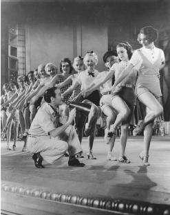 """a review of busby berkeley and the backstage musical The city springs theatre company is presenting the legendary musical """"42 nd street,"""" running through septl 23 at the brand new sandy springs performing arts center the crown jewel of the city."""