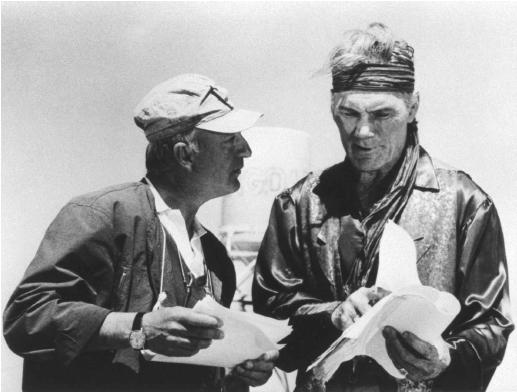 Percy Adlon (left) with Jack Palance.