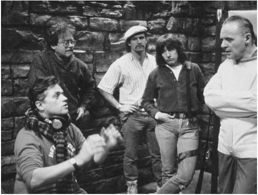 Jonathan Demme (left) directing The Silence of the Lambs