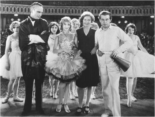 Paul Fejös (right) poses with the cast of The Last Performance
