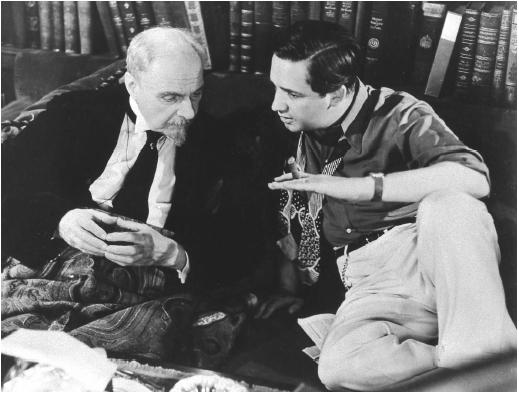 Mervyn LeRoy (right) on the set of Madame Curie