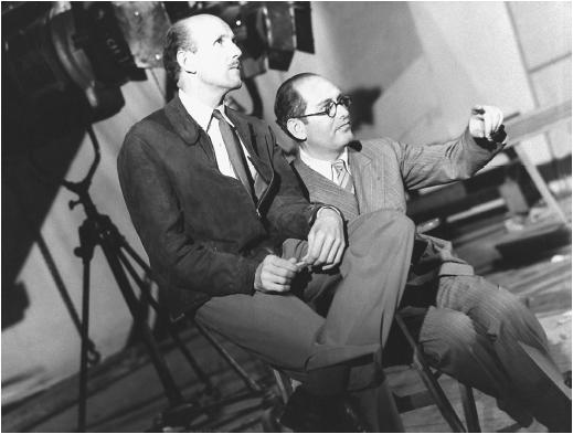 Michael Powell (left) and Emeric Pressburger