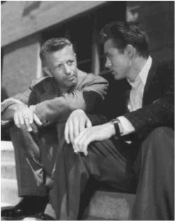 Nicholas Ray (left) with James Dean