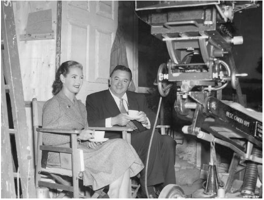 Jacques Tourneur and Patricia Roc on the set of Circle of Danger