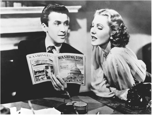 Jean Arthur and James Stewart in Mr. Smith Goes to Washington