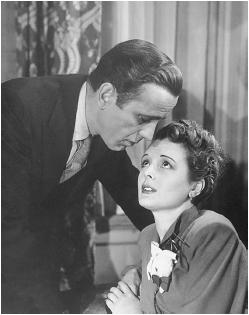Mary Astor and Humphrey Bogart in The Maltese Falcon