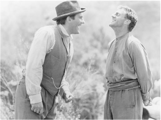 Daniel Auteuil (right) with Gerard Depardieu in Jean de Florette