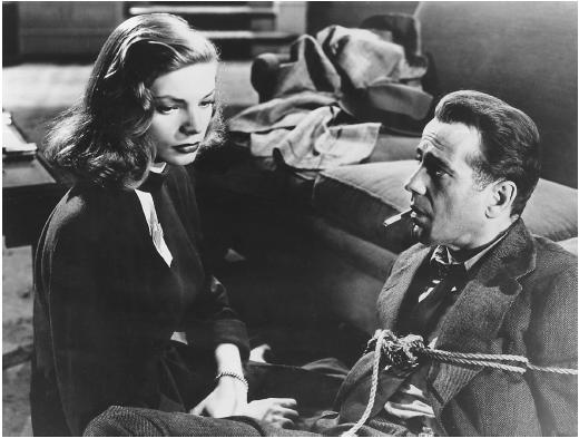 Lauren Bacall and Humphrey Bogart in The Big Sleep