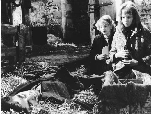 Alan Bates with Hayley Mills in Whistle Down the Wind