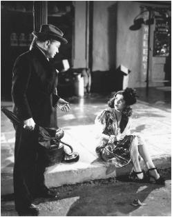 Joan Bennett with Edward G. Robinson in Scarlet Street