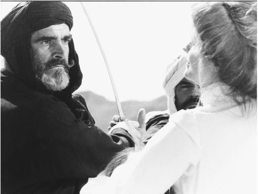 Candice Bergen with Sean Connery in The Wind and the Lion