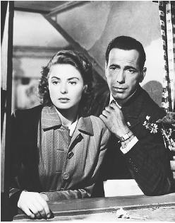 Ingrid Bergman with Humphrey Bogart in Casablanca