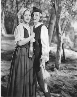 Elisabeth Bergner (right) with Sophia Stewart in As You Like It