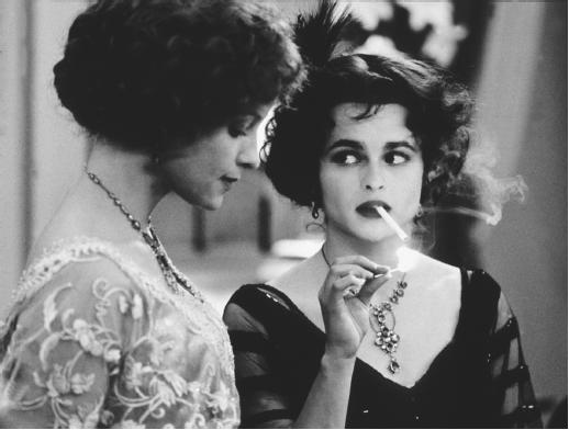 Helena Bonham-Carter (right) and Alison Elliott in The Wings of the Dove