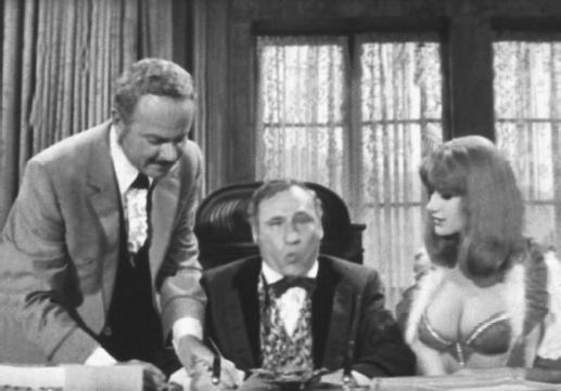 Mel Brooks (center) with Harvey Korman in Blazing Saddles
