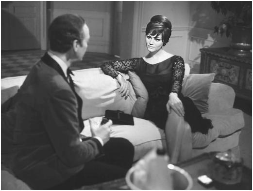 Claudia Cardinale with David Niven in The Pink Panther