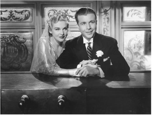 Madeleine Carroll with Dick Powell in On the Avenue