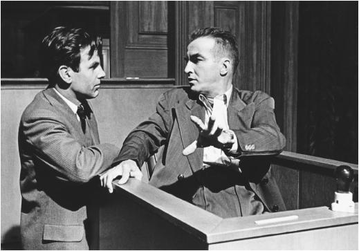 Montgomery Clift (right) in Judgment at Nuremberg