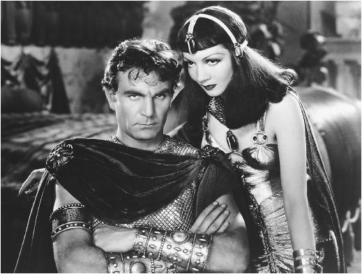 Claudette Colbert with Henry Wilcox in Cleopatra