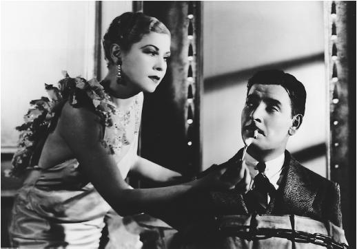Ronald Colman with Lilyan Tashman in Bulldog Drummond