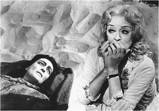 Joan Crawford (left) and Bette Davis in Whatever Happened to Baby Jane?
