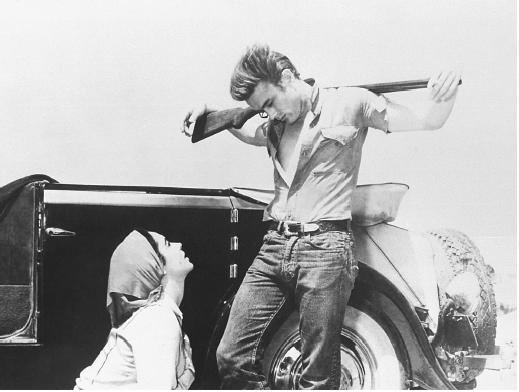 James Dean with Elizabeth Taylor in Giant