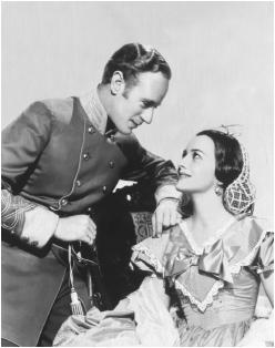 Olivia de Havilland with Leslie Howard in Gone with the Wind