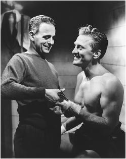 Kirk Douglas (right) with Paul Stewart in Champion
