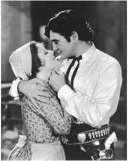 Irene Dunne with Richard Dix in Cimarron