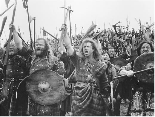 mel gibson braveheart pictures. Mel Gibson in Braveheart