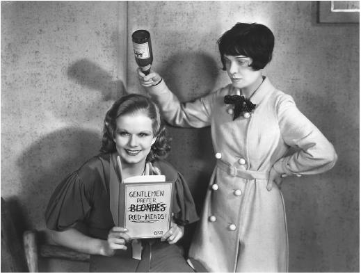 Jean Harlow (left) with Anita Loos
