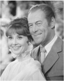 Rex Harrison with Audrey Hepburn in My Fair Lady