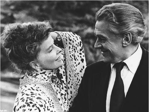Katharine Hepburn with Paul Scofield in A Delicate Balance