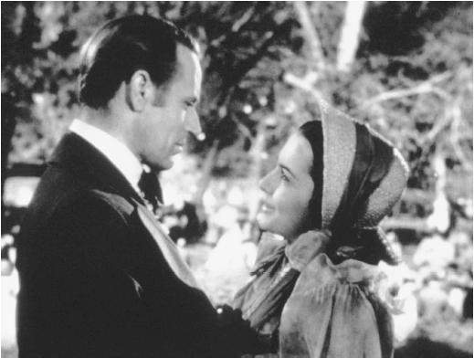 Leslie Howard with Olivia de Havilland in Gone with the Wind