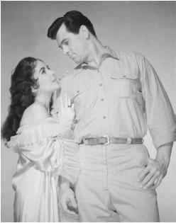 Rock Hudson with Elizabeth Taylor in Giant