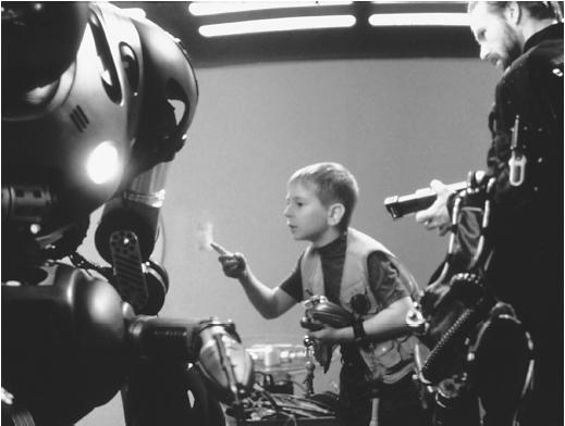 William Hurt (right) and Jack Johnson in Lost in Space