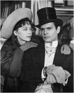 Louis Jourdan with Leslie Caron in Gigi