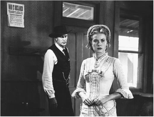 Grace Kelly with Gary Cooper in High Noon