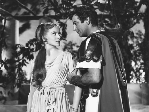Deborah Kerr and Robert Taylor in Quo Vadis?