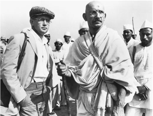 Ben Kingsley (right) with Martin Sheen in Gandhi