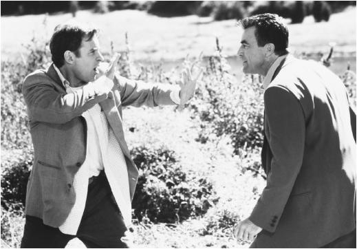 Kevin Kline (left) and Tom Selleck in In & Out