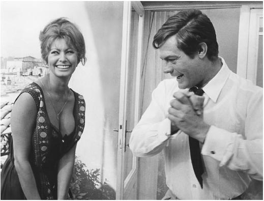 Sophia Loren with Marcello Mastroianni in Yesterday, Today, and Tomorrow