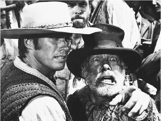 Lee Marvin (right) with Clint Eastwood in Paint Your Wagon