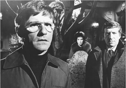 Roddy McDowell (left), Gayle Hunnicutt and Clive Revill in The Legend of Hell House