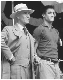 Ian McKellan (left) with Brendan Fraser in Gods and Monsters