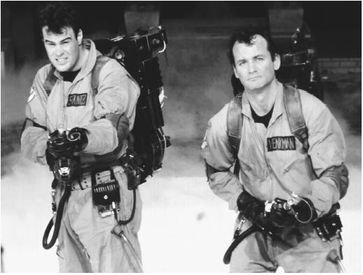 Bill Murray (right) and Dan Ackroyd in Ghostbusters