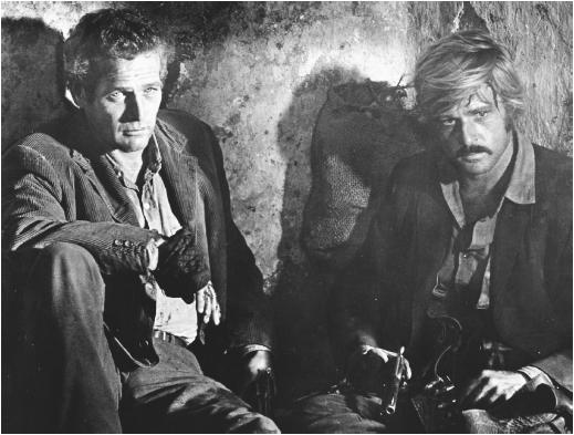 Paul Newman (left) with Robert Redford in Butch Cassidy and the Sundance Kid