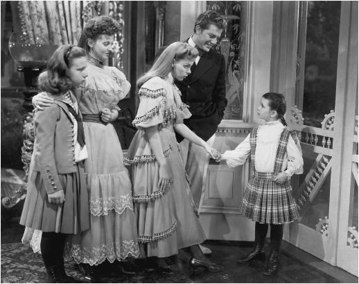 Margaret O'Brien (right) in Meet Me in St. Louis