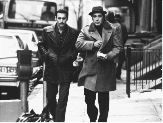 Al Pacino (right) and Johnny Depp in Donnie Brasco