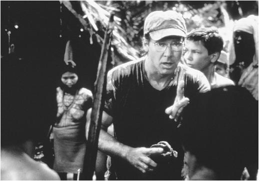 River Phoenix (right) with Harrison Ford in The Mosquito Coast